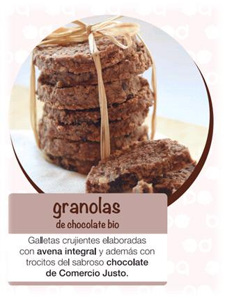 granolas de chocolate